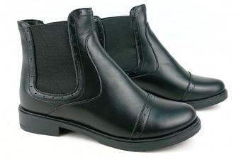 1009 Ботинки кожаные женские