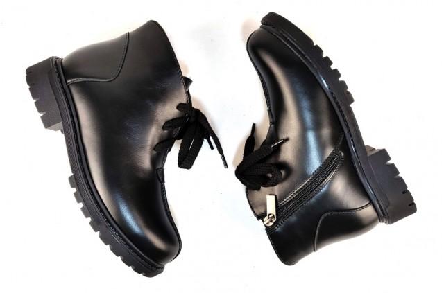 1035 Ботинки кожаные женские