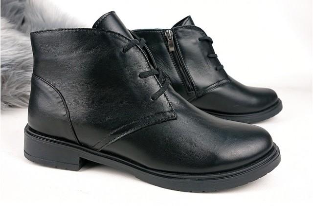 1008 Ботинки кожаные женские