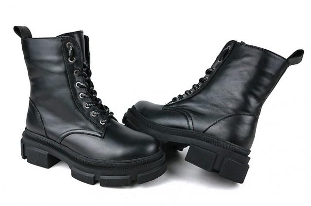 2081LS Зимние Молодежные ботинки кожаные