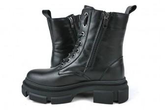 В НАЛИЧИИ - 2081LS Зимние Молодежные ботинки кожаные
