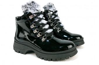 2069 Ботинки с меховой вставкой