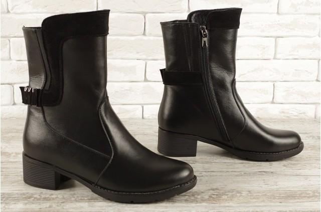 4013 БАЙКА Ботинки на каблуке до 42 размера